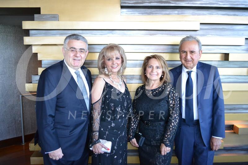 Arsen and Hasmik Danielian with Seda and Robert Babayan