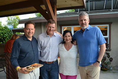 Jack Schaedel, Jay and Lisa Dick, and Brent Weirick