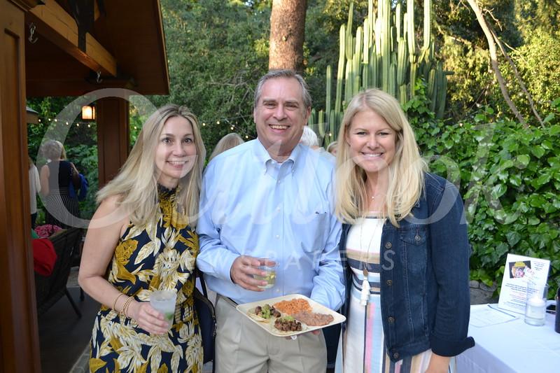 Shelley and Doug Halley with Karen Clark