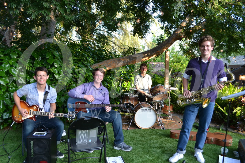 Jordan & The Pebbles — Iman Behshid, Liam Crehan, Zach Northrop and Jordan Stroud — entertained guests.
