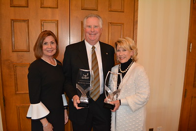 CSF President Karen Mathison with Distinguished Person Award recipients Mike and Nancy Leininger