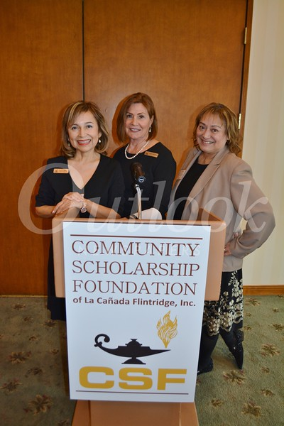 CSF President Karen Mathison (center) with event co-chairs Alice Perez and Trish McRae