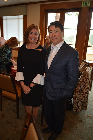 Karen Mathison with past President Joel Peterson