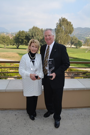 Distinguished Person Award recipients Nancy and Mike Leininger