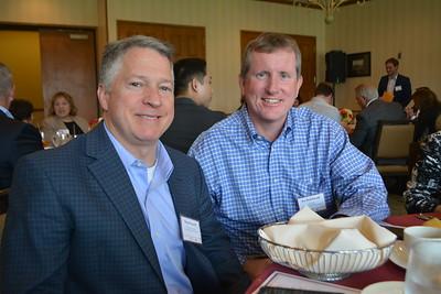 School board member Brent Kuszyk and LCUSD Governing Board President Joe Radabaugh