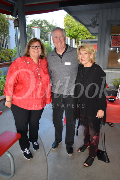 Maureen Bond with Mike and Nancy Leininger