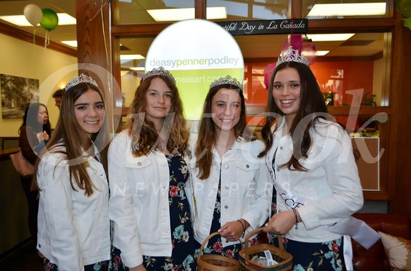 LC Court Audrey Pauli, Kat Hightower, Sarah Peck and Miss LCF Francesca Christiansen