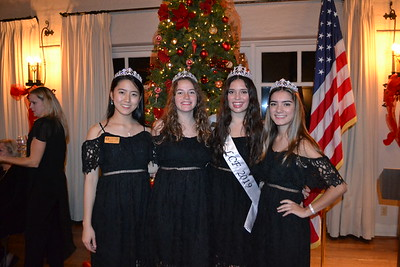 LCF Royal Court includes Sophie Lin and Kat Hightower, Miss LCF Francesca Christensen and Audrey Raulli.