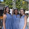La Canada Princesses Megan Andrews, Rucha Kadam and Courtney Johnson