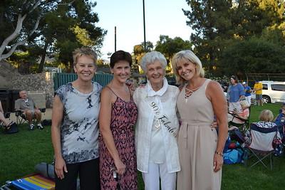 Amy Ross, Patty Kanda, birthday girl Joyce Ruygrok and Kathryn Simmons