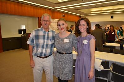 Hillside Executive Director Bob Frank, Alison Kerstiens and Associate Director Cyndi Hatcher