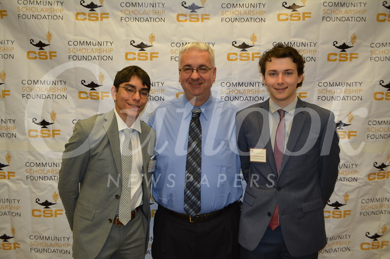 Spencer Zahabizadeh, St  Francis college counselor Dan Pelletier and Conrad Jensen