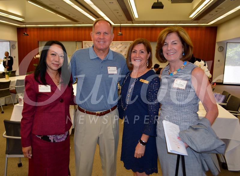 Scholarship chair Rose Linda Gonzales,Wes Seastrom, CSF President Karen Mathison and Mayor Terry Walker