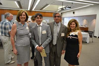 Mayor Terry Walker, Spencer and Bobby Zahabizadeh and Analily Park