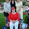 Paulette Lantz (front) with Lee Johnson, Susan Kay Wyatt and Becky Gelhaar