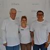 La Cañada Dilbeck branch manager Barry Jones with event organizers Sarah Gould and Juan Carlos Argueta