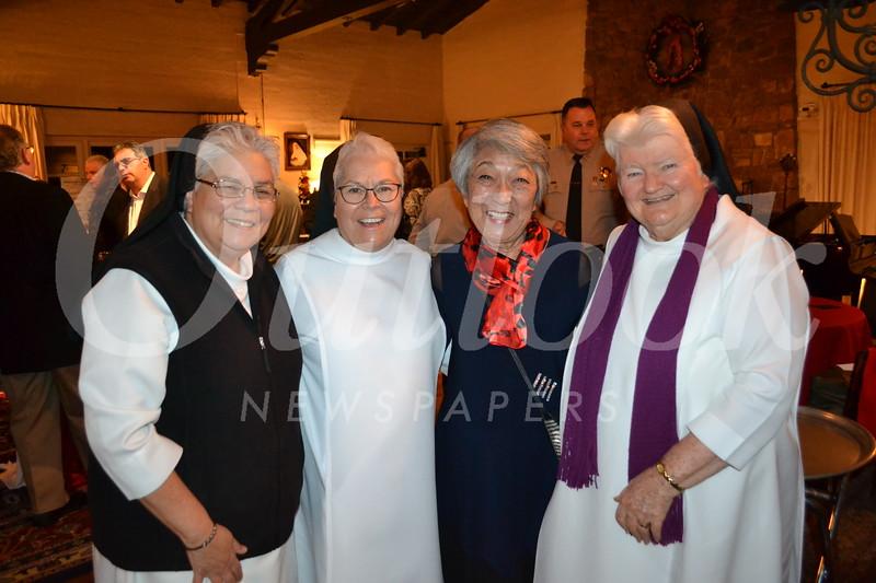 Sister Mary Susanna Vasquez, FSHA Principal Sister Celeste Botello, Irene Christensen and FSHA President Sister Carolyn McCormack