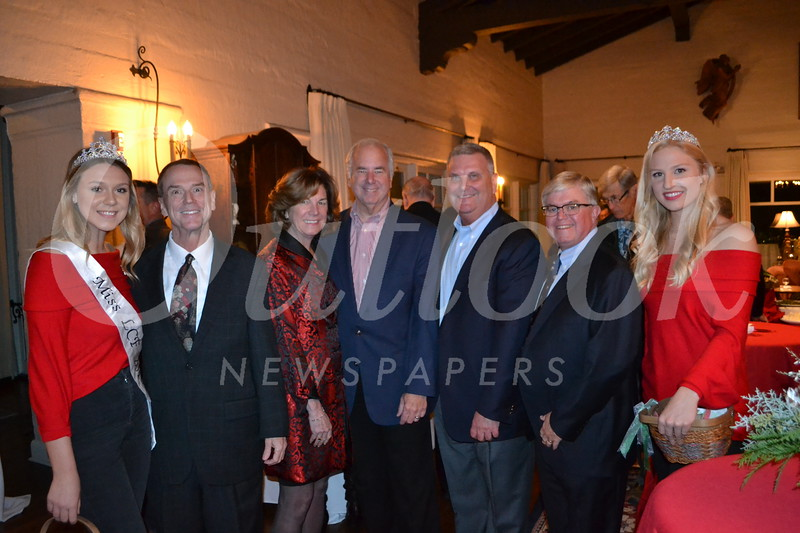 Miss LCF Hazel Valentine, Jon Curtis, Mayor Terry Walker, Greg Brown, Michael Davitt, Len Pieroni and court member Julia Powers