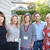 Betsy Asher Hall, Home Tour co-chairs Gillan Abercrombie Frame and Suzanne Jensen, and evening reception co-chairs Stuart McKinney and Mindy DiPaolo