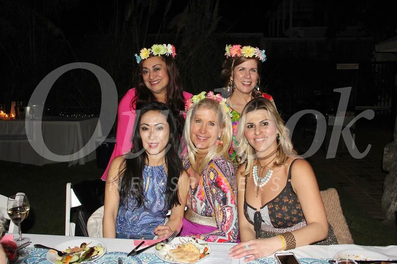 Michelle Strassburg (front, from left), Rita Gooch and Sandy Kobeissi. Back: Trish McRae and Brenda Gant.
