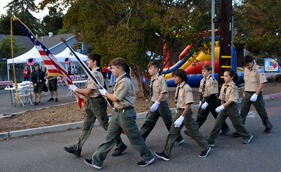 option 2 Scouts from troup 288 posted the colors 293