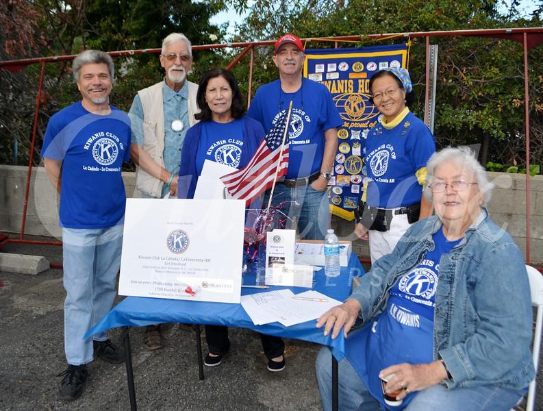 La Cañada/La Crescenta AM Kiwanis members include Chris Ecker, President Tom Petersmeyer, Vice President John Wray, MaryAnn Ralser and Rosemary Cook