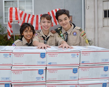 Scouts Rahil Mamujee, Gage Stallcup and Alex Starbuck 308