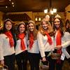 Royal Court members Sophie Lin, Sarah Peck, Audrey Raulli and Kat Hightower with Miss La Cañada Flintridge Francesca Christensen