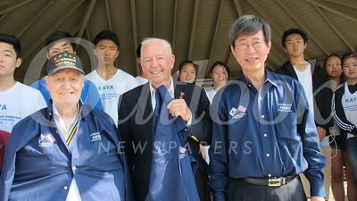 14 Korean War veterans Richard Bame and Bob Keite and Ambassador Key Cheol Lee