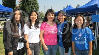 13 Jinny Moon, Minzie Kim, LCHS assistant principal Dr  Kip Glazer, Jasmine Kim and Ashley Chun