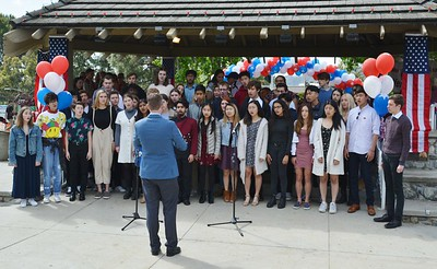 The La Canda Chamber Singers singing God bless America under the direction of Dr  Brookey 912