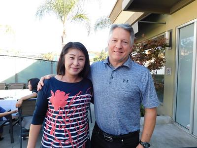 Anglela Ng and Governing Board president Brent Kuszyk