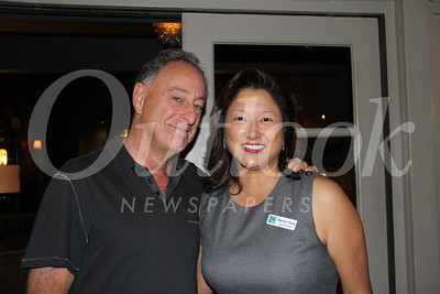 3322 Bistro 45 owner Robert Simon with LCFEF Executive Director Marilyn Yang