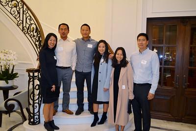 Dana and Yop Kang, John and Dana Sim, and Joyce and James Lee