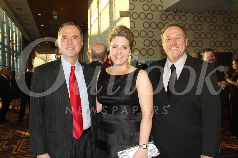 Congressman Adam Schiff with Cheryl and Scott Trowbridge
