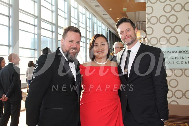 Matt Weber, LCFEF President Caroline Anderson and John Ibsen