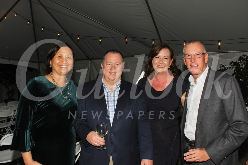 LCFEF President Caroline Anderson, Wine Auction chair Rob Olson, Kelly Davis and Kevin Martin