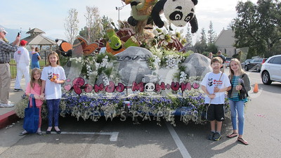 LCF's Float Gets Hometown  Welcome at Memorial Park