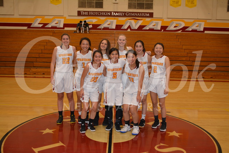 LCHS girls' varsity: Bethany Lu (front row, from left), Madison Tea and Alyssa Miyamoto. Back: Lauren Scoville, Emmie Lew, Lara Kayali, Amanda Scoville, Brooke Yaruda and Morgan Tsujihara.