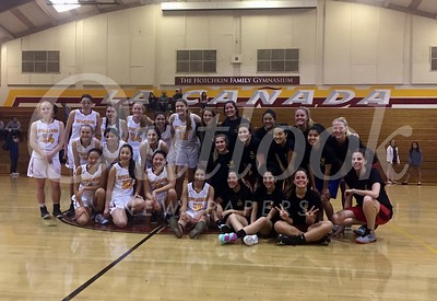 Girls BB team and Alumni 100