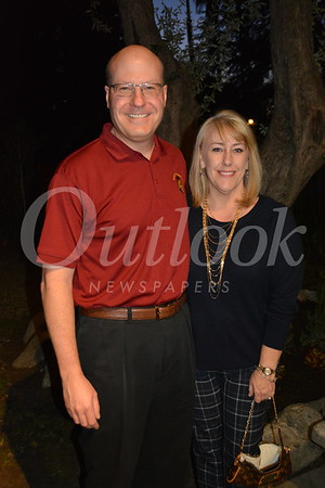 Booster President Chris Clarkson and Past PTSA Board President Christie Clarkson 679