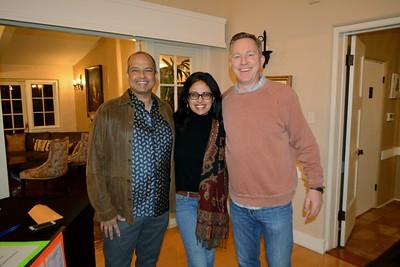 Renu and Srinatu Samudrala with Steve Tapp