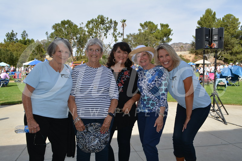 Jan Roberts, Parent Ed founder Annie Latta Krach, Sandy Ravana, Ginny Kelley and Anne Bierling