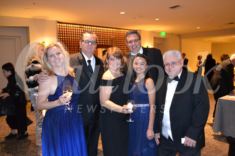Fran and Kevin Lyman, Christine, Lily and Andrew Bingham, and Richard Luchetta