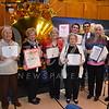 USC-VHH Volunteers special service award receipients Lee Sealander, Dottie Longo, Ruth McNevin, Cynthia Jenne, Ryan Eggena, Miguel Gonzalez, Pat Rademacher and Julia Rieck