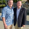 Councilman Michael Davitt and L A  County Sheriff Jim McDonnell