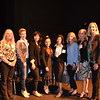 La Cañada Elementary School recipients: Andrea Redecker, Lee Chumo, Julie Bae, Jennifer Crocker, Sonik Arutyunyan, Karyn Perez and Cathy Kleinahlbrandt with LCE Principal Emily Blaney.