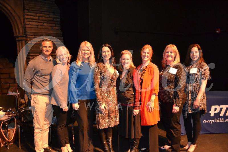 Paradise Canyon Elementary School recipients: Carlo Cesario, Holly Breckheimer, Karen Clark, Valerie Talbert, presenter Jodi Newman, Mikki Weightman, Linda Dunlop and Kristen Brown