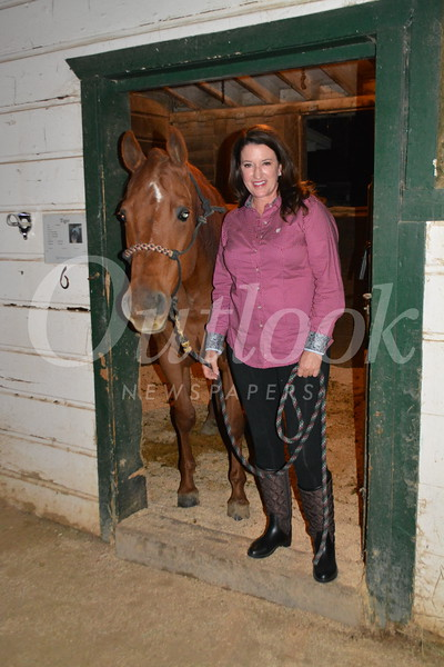 Jeannie Garr Roddy and her horse, Tiger