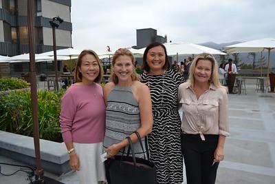 Lorna Kim, Jill Chapman, Caroline Anderson and Gillan Abercrombie Frame